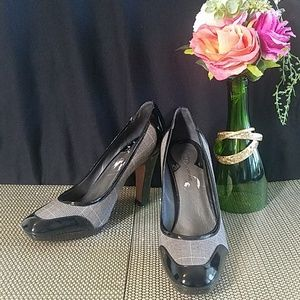 Black and White Heels by CIRCA